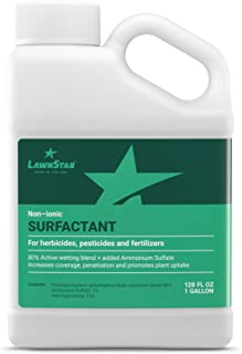 LawnStar Non-Ionic Surfactant + 5% AMS for Herbicides, Pre-Emergents & Fertilizers (1 Gallon) – Increase Coverage, Penetration, Prevent Rolloff and Maximize Product Performance – American Made