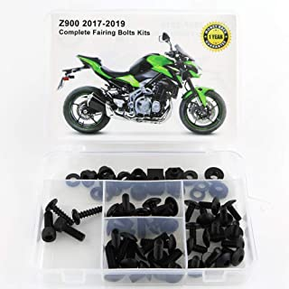 Xitomer Full Sets Fairing Bolts Kits, for KAWASAKI Z900 2017 2018 2019, Mounting Kits Washers/Nuts/Fastenings/Clips/Grommets (Matte Black)