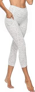 High Waist Yoga Pants with 3 Pockets, Tummy Control, Non See-Through 4 Way Stretch Yoga Capri Leggings