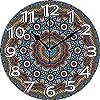 壁掛け時計10インチマンダラヴィンテージモロッコ神聖隠された平均儀式信念図自然と調和形テーマ多色サイレントホームオフィスインテリア非くすぐり時計オフィス装飾
