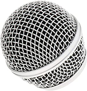 Perfk Replacement Mic Grille Mesh Ball Head For SM58 BETA58 Microphone Part