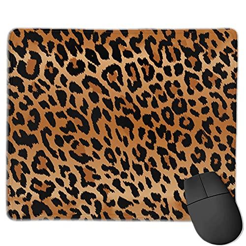 Alfombrilla De Ratón Comodidad Alfombrilla Gaming Antideslizante Cojín De Ratón Bordes Cosidos para Trabajo Juegos Oficina,Grano de Leopardo,25 x 30 cm
