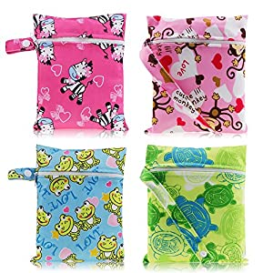 HailiCare Reusable Sanitary Towel Pads Bamboo Cloth Washable Menstrual Postpartum Pads Random Color