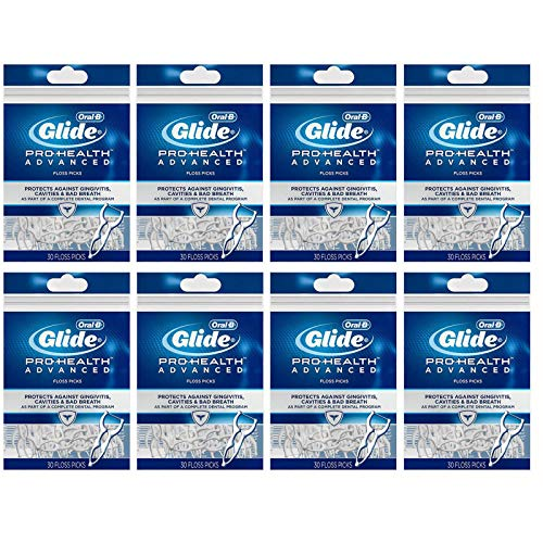 Oral-B Pro Health Advanced 30 Floss Picks, Old Packaging, Pack of 8 (240 Count)