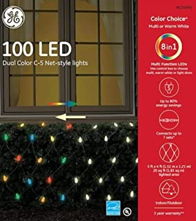 GE Color Choice 5-ft x 4-ft Multi-Function Color Changing 100 LED C5 Plug-in Christmas Net Lights