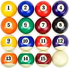 BILLARES Y DARDOS CAMARA Juego de Bolas de Billar Americano tamaño estandar 57,2mm y Blanca 60,3 mm