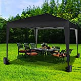 mcc direct 3x3m Pop-up Gazebo Waterproof Outdoor Garden Marquee Canopy NS (Black)