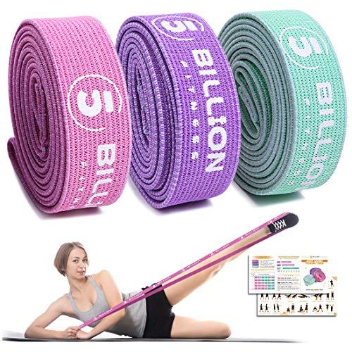 5BILLION Resistance Bands - Lange Fitnessband - Pull Up Band Set -Trainingsband Unterstützung fürs Körperdehnung, Krafttraining, Beintraining, Physiotherapie,Yoga und Klimmzüge