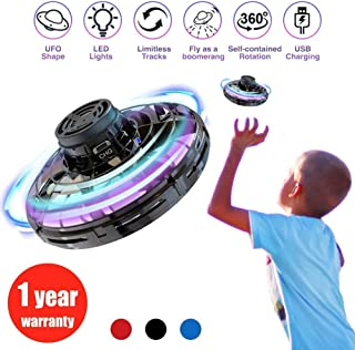 Flynova Hand Operated Drones for Kids or Adults -Scoot Hands-Free Mini Drone Helicopter, Flying Ball Drone Easy Indoor Outdoor Toys, Great Flying Drone Gift for Boys/Girls, with 360° Rotating Black