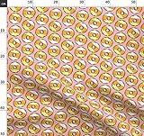Candy Corn, Donuts, Halloween Stoffe - Individuell Bedruckt