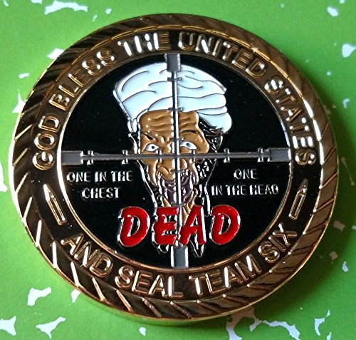 9/11 Osama Bin Laden Dead By US Seal Team Six Colorized Challenge Art Coin