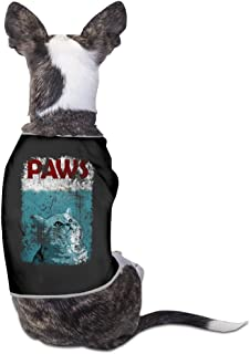 Cool Funny Jaws And Paws Cat Movie Poster Pet Dog T Shirt.