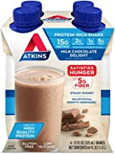 Atkins Ready To Drink Shake Milk Chocolate Delight 4 Count 11 Ounce Container by Atkins Estimated Price : £ 39,99