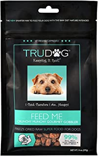 Trudog Real Meat Dog Food - Feed Me: Freeze Dried Raw Superfood For Optimal Canine Health And Natural Longevity, 14Oz Turk...