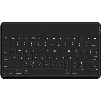 Logitech Keys-To-Go Tastiera Wireless Bluetooth Per iPhone, iPad, Apple TV, Sottile, Leggera, Tasti Scelta Rapida, Layout Italiano QWERTY, Nero