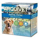 ARQUIVET Dental Sticks - Snacks dentales para Perros - Productos higiene Dental Canina - Snacks Naturales - Chuches y golosinas para Perros - Dientes sanos Perros - Caja 28 uds.