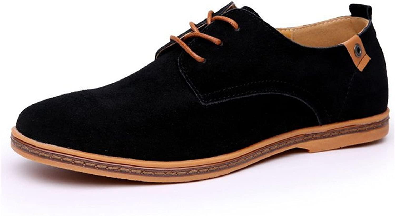 UPWalker Men's Suede Leather Classic shoes Casual Driving Oxfords