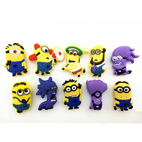 01ec570a4acc 10pcs Despicable Me 2 Shoe Charms for Fit Croc   Bracelet Wristband Kids  Party Birthday Gifts