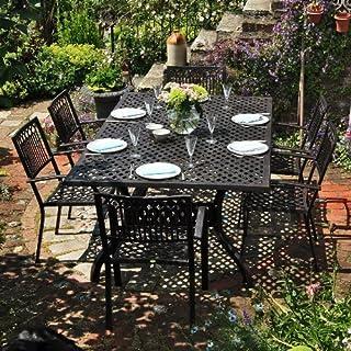 Lazy Susan Sophia 200 x 120cm Rechtickiges Gartenmöbelset - 1 SOPHIA Tisch + 6 ROSE Stühle