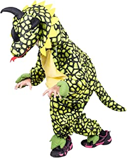 Drache SCHWARZ Kinder KOSTÜM 110 116 Dragon Dino Dinosaurier Fasching