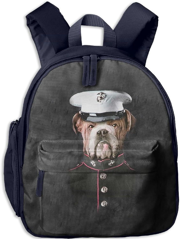 Lightweight Kids School Bulldog Marine Backpack