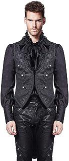 Punk Rave Mens Vest Waistcoat Tailcoat Black Damask Gothic Steampunk Victorian