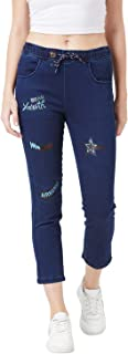 TheDry State Women Denim Printed Jeans Jogger GB0704