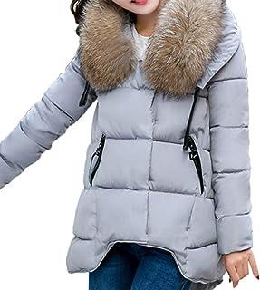 f76952a1de Veste Femme Doudoune Hiver Chaud Youngi Hoodie Outwear Manteau Chaud Col en  Fourrure Épais Coton Slim