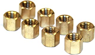EMPI 43-6051 BRASS EXHAUST NUTS, VW BUG, BUS, 8mm-1.25mm, 11mm Small Diameter Head, Set Of 8