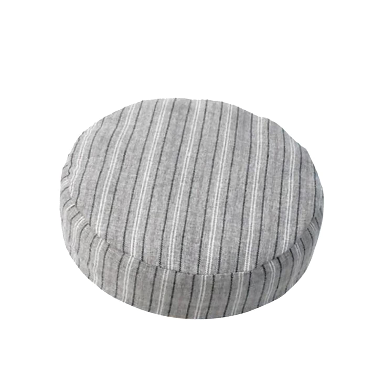 文句を言う区別する簡単にSharplace 全8色 1個入り 直径約40cm ラウンド リネン製 スツールカバー 座布団カバー 丸椅子カバー - カラー4