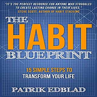 The Habit Blueprint     15 Simple Steps to Transform Your Life              Written by:                                                                                                                                 Patrik Edblad                               Narrated by:                                                                                                                                 Greg Zarcone                      Length: 1 hr and 7 mins     Not rated yet     Overall 0.0