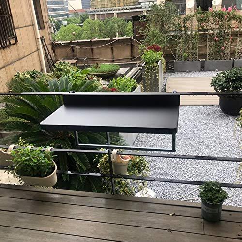 Table de Balustrade de Balcon Suspendue Pliante Portable en Alliage d'aluminium Pliante ménage Multifonctionnel de Levage Petite Barre Noir