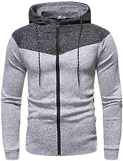 Fastbot Men's Hoodie Hooded Sweatshirt Zipper Up Sweater Pulllover Patchwork Colorblock Coat Jacke Autumn Spring