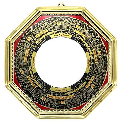 Sunnyushine Feng Shui Bagua-Spiegel Traditionellem Chinesischem Spiegel Konkaver, Vor Schädlicher Und Passiver Negativer Energie - Schatz/Reichtums/Glück, 20cm
