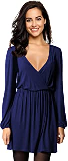 Women's V-Neck A-Line Party Casual Dress