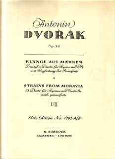 SIMROCK DVORAK ANTONIN - STRAINS FROM MORAVIA OP. 32 BAND 2 - SOPRANO, ALTO AND PIANO Classical sheets Choral and vocal en...