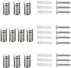 20 stuks Qrity afstandhouders montagekleine onderdelen reclameglas acryl afstandhouders, roestvrij staal afstandhouder, 12...