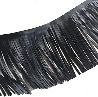 black leather fringe