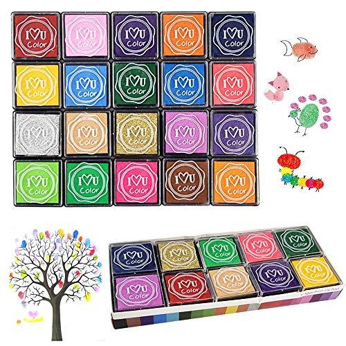 Finger Ink Pads for Kids, 20 Colors…