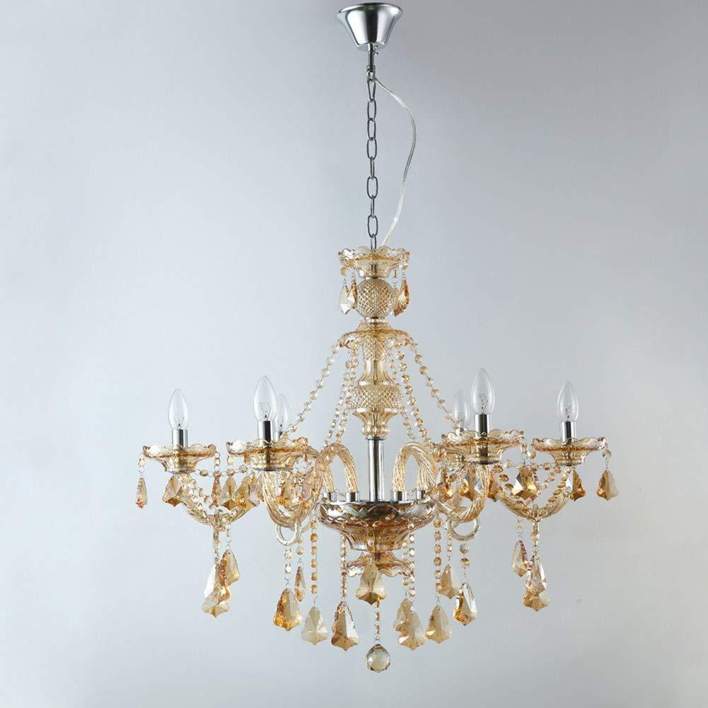 Gro/ßer Kronleuchter 9-flammig K/öniglicher L/üster klar Acrylglas E14 Kerzen Barock Deckenlampe
