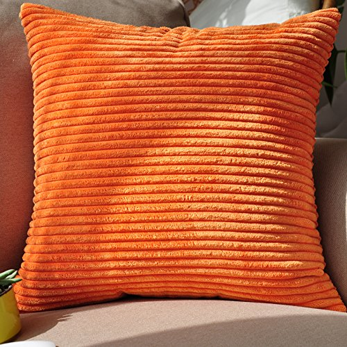 Baozengry Canapé Couleur Bonbon Solide Simple,Voiture Oreiller 45X45Cm (Avec Une Haute Qualité De Base), Orange