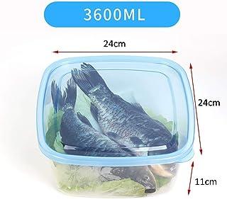 HHQSC Plastic crisper box Kitchen storage box, polypropylene storage box with lid, stackable plastic crisp box, refrigerat...