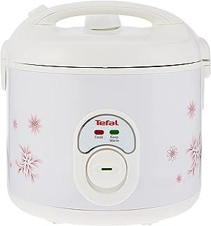 TEFAL Easy Cook 1.8 Liter Rice Cooker, 600 Watts, White, RK101827