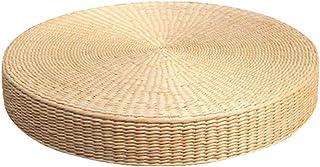 [えみり] 蒲草座布団 草マット クッション 座布団 瞑想用 円型 自然素材 畳ベイ ふとん 通気性 禅 和風 ヨガ (40cm,写真通り)