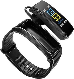 HBBOOI Auriculares Altavoz Bluetooth Pulsera Inteligente Banda Respuesta Teléfono Sleep Play Music calorías Monitor de Ritmo cardíaco Kilometraje Registro