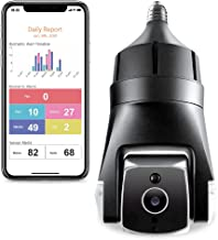 Amaryllo Triton: Biometric Auto Tracking Outdoor Light Bulb PTZ Wi-Fi Security Camera with Face Recognition, Support Fire ...