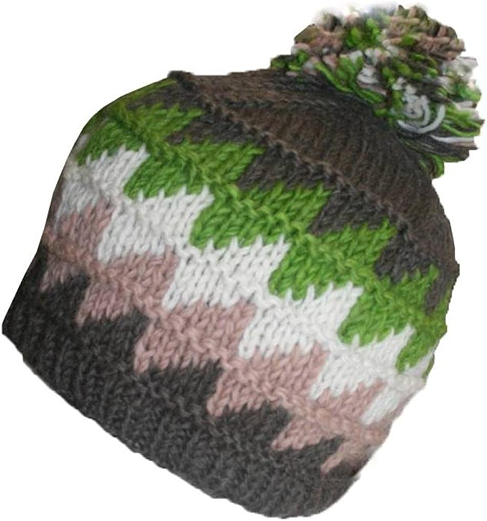 sale Agan Traders 1415 H Wool Unisex Crochet Fleece Lined Ha Max 78% OFF Pom Knit