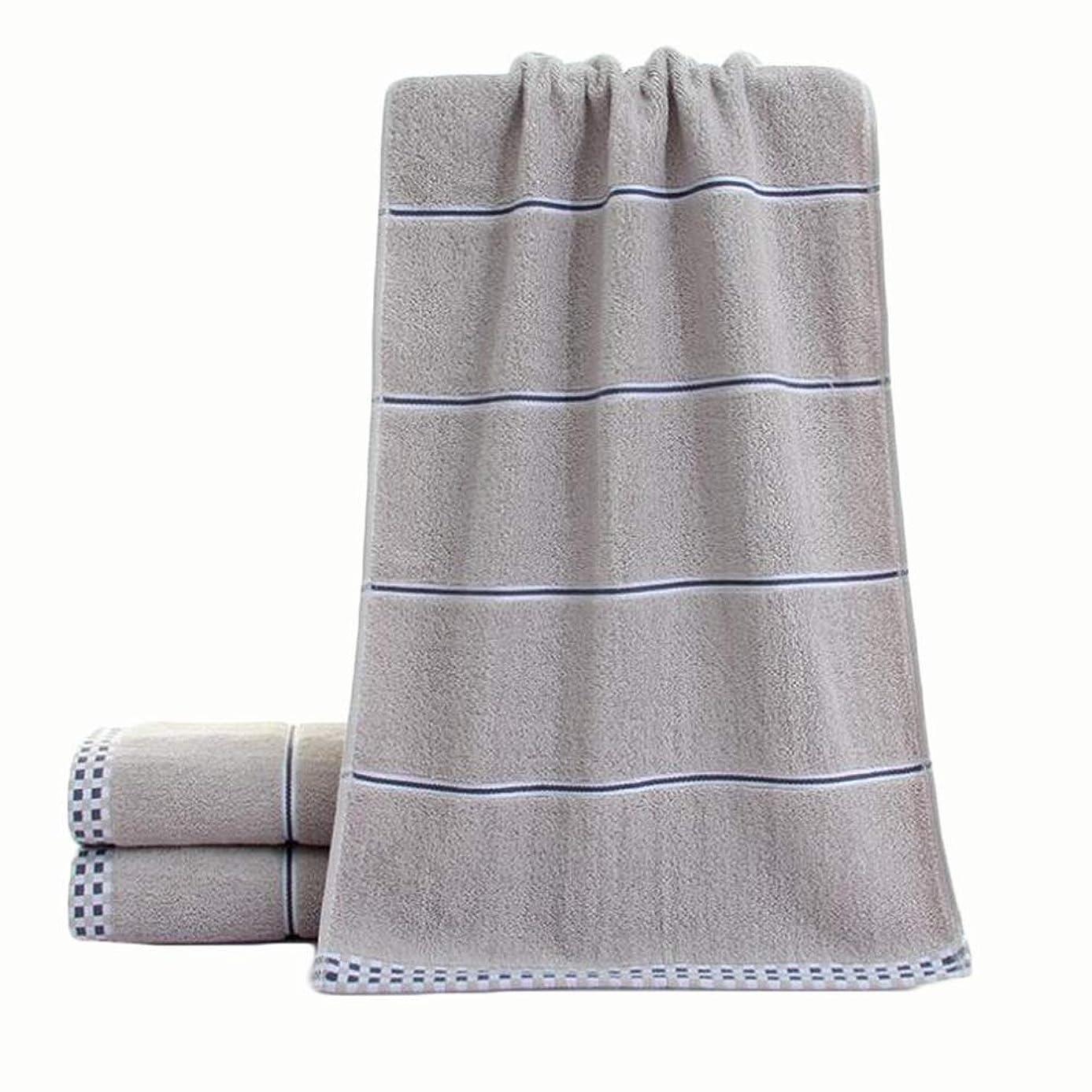 ズボン絶えずインスタンスCXUNKK 2PCS / LOT家庭用綿厚手綿吸収性タオル (Color : Gray)