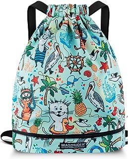 Drawstring Backpack String Bag Sackpack Cinch Water Resistant Nylon for Gym Shopping Sport Yoga