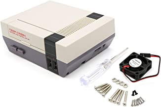YIKESHU NESPI CASE+, Retroflag Nespi Case+ Plus Functional Power Button with Safe Shutdown for Raspberry Pi 3 B+ (B Plus), Carring Small Brushless Cooling Fan